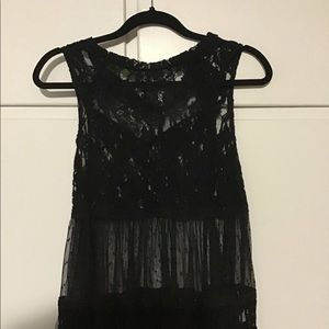 Youth size medium see thru black lace top
